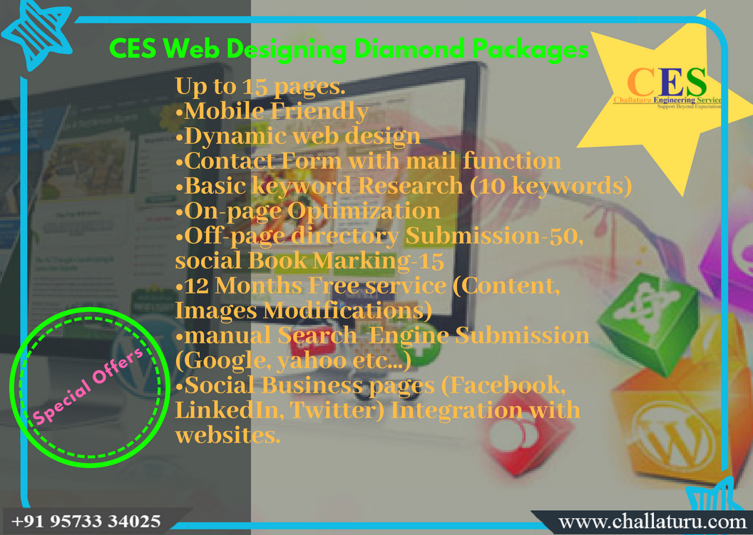 Ces Special Offer For Webdesigning Diamond Package With An Efficient Cost Mobilefriendly Css Html Php Web Design Web Design Packages Image Modification