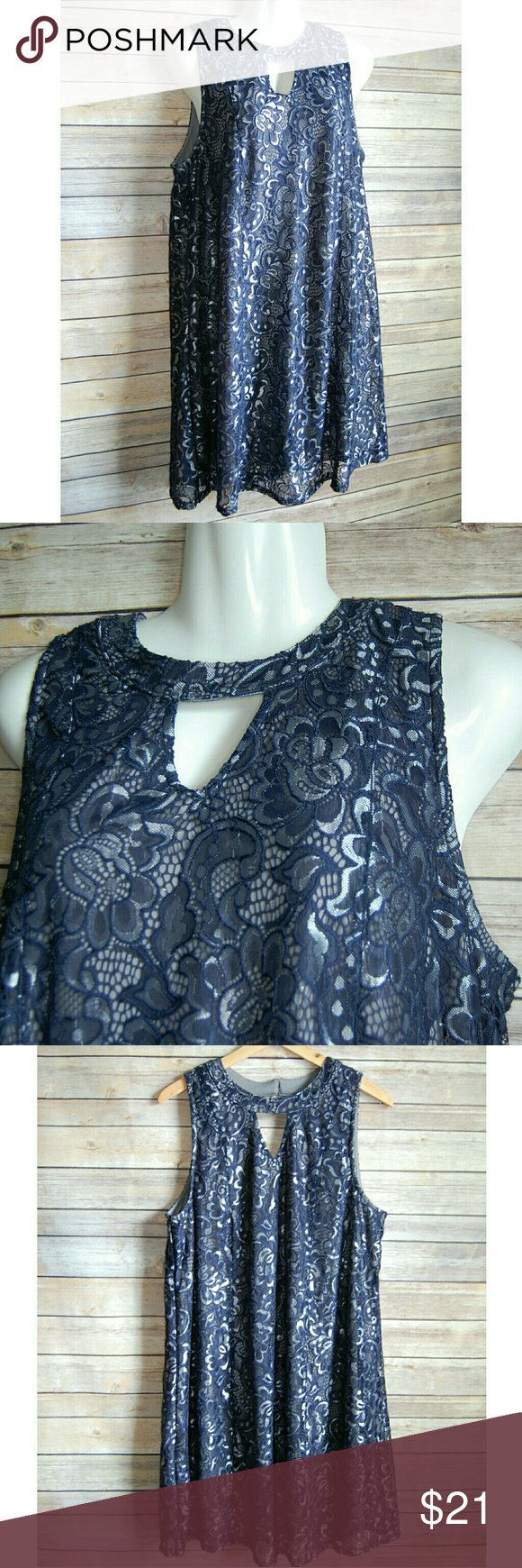 Xl short dress silver blue navy blue conditioning and navy
