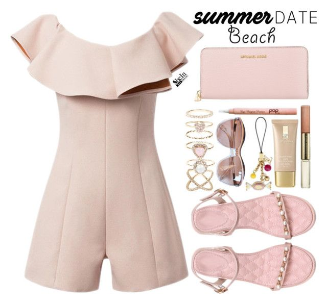 """""""Summer date"""" by simona-altobelli ❤ liked on Polyvore featuring Lauren Conrad, Accessorize, Michael Kors, beach, Sheinside, polyvorecontest, summerdate and shein"""
