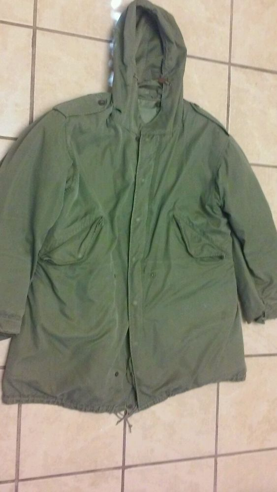 Vintage US Army M51 M1951 Fish Tail Parka Shell and Liner Medium Good  Condition da334a5bd88