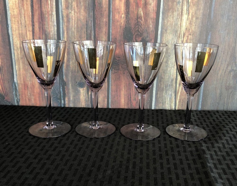 Amethyst drinking glasses set of 4 cordial glasses with