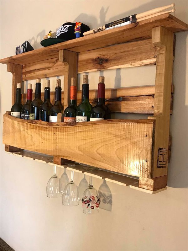 Pallet Wood Wine Rack For Sale In Liberty Lake Wa In 2020 With