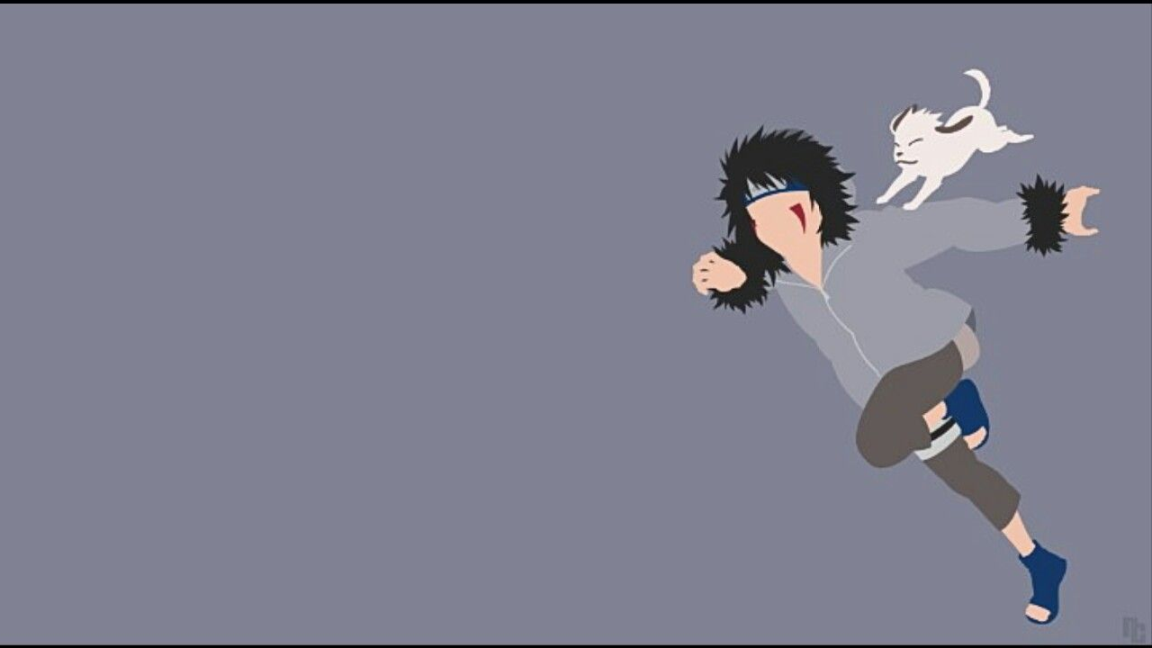 Sasuke Minimalista Fondo: Kiba & Akamaru Wallpaper