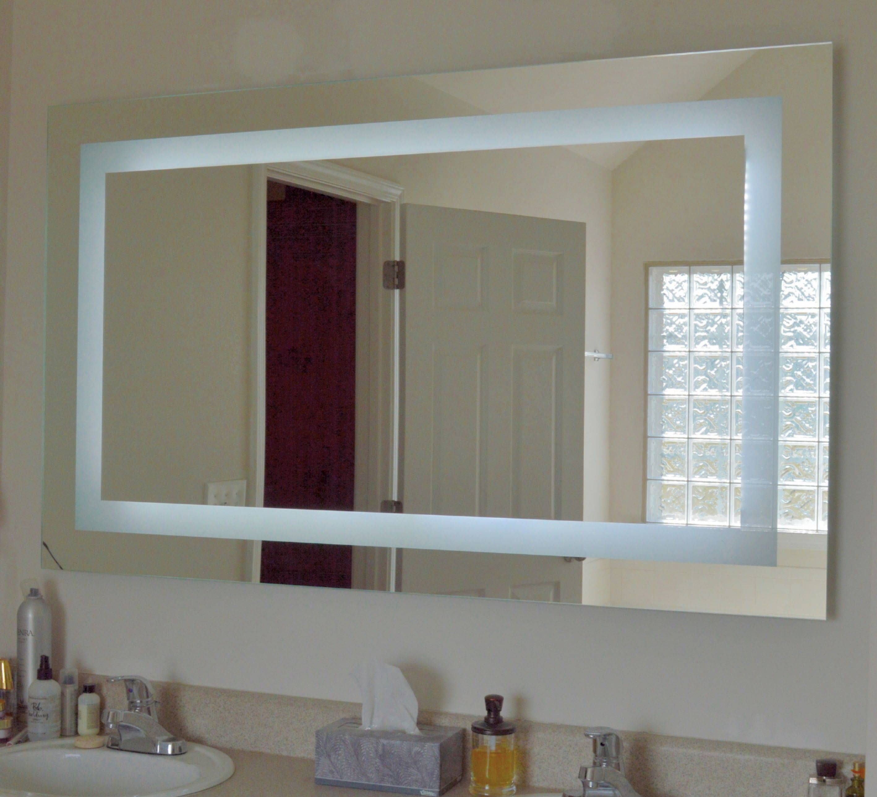 Our Mam86036 Front Lighted Led Mirror 60 Wide X 36 Tall Bathroom