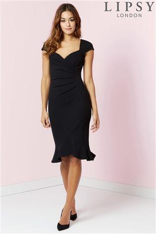 Buy Lipsy Flute Hem Bodycon Dress From Next Ireland Women Bodycon Dress Fashion Outfits Fashion