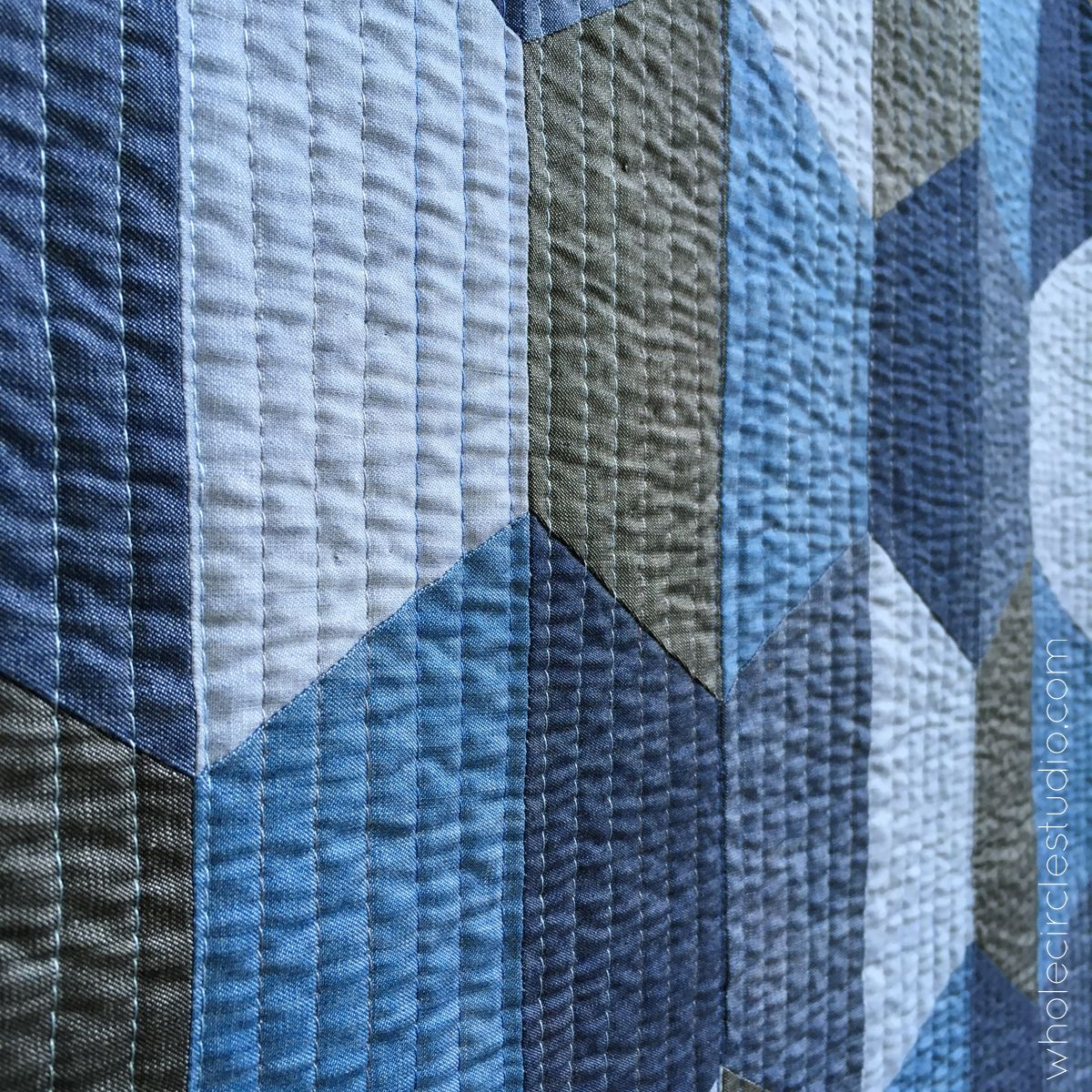 Hexie Blues Quilt Pattern Download