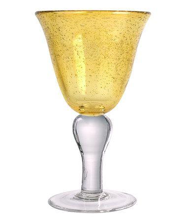 Iris Citrine Wineglass #zulily #zulilyfinds