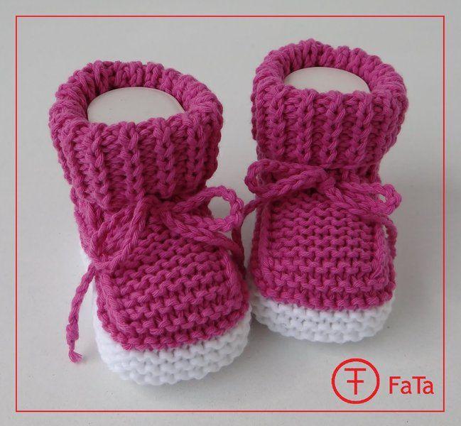 8,5 cm Babyschuhe Taufschuhe Baumwollmischung von FaTa ...