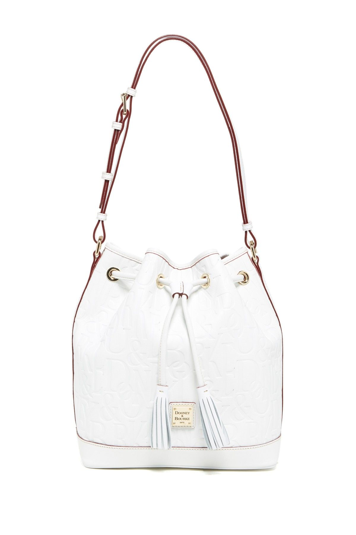 Dooney Amp Bourke Leather Drawstring Bag
