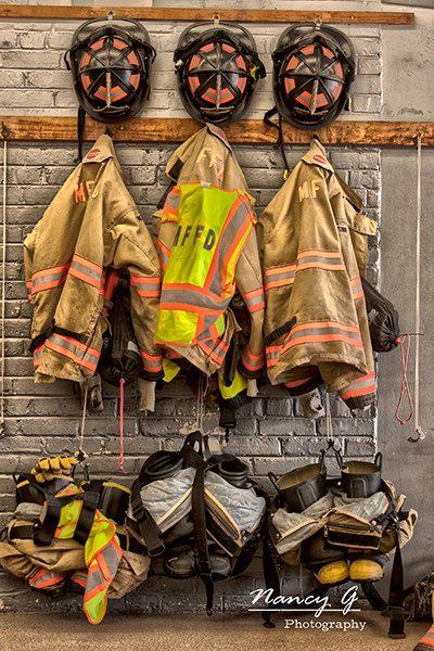 Firefighter Living Room Decor: Firefighter Gear Print, Menomonee Falls WI, Firehouse Fire