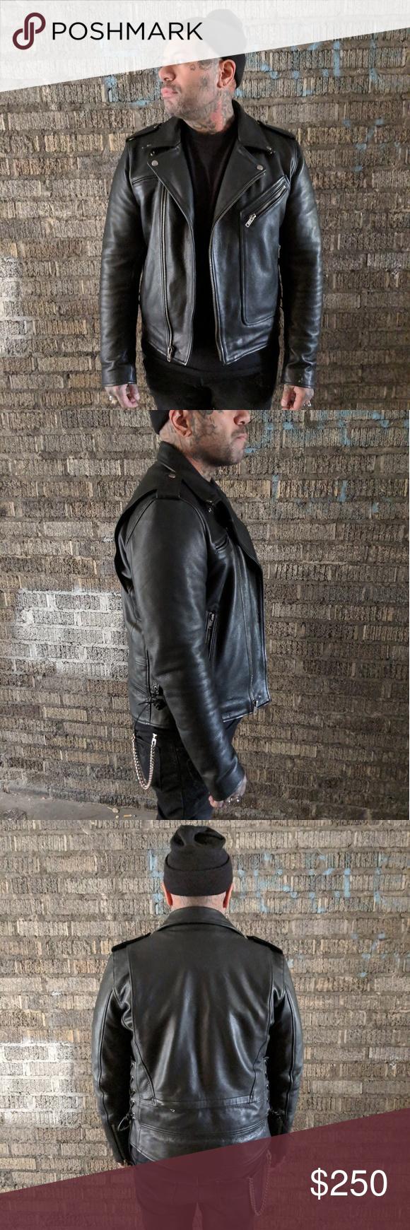 Wilsons Leather Motorcycle Jacket Size M Wilsons Leather Leather Motorcycle Jacket Wilsons Leather Jacket [ 1740 x 580 Pixel ]