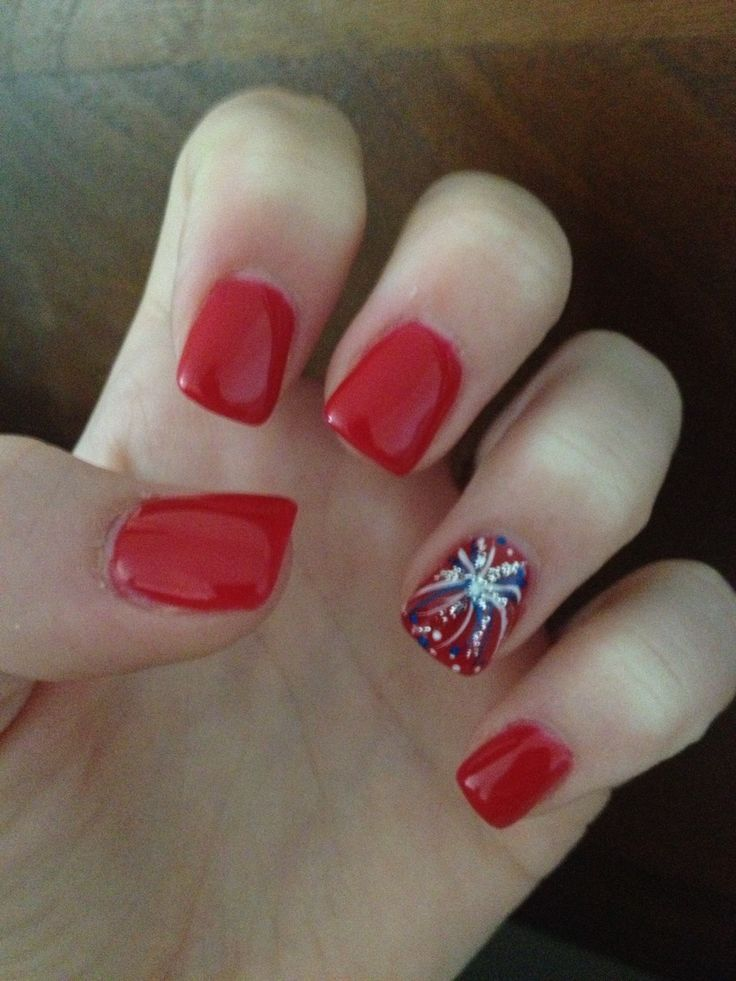 nice Fourth of July nails... | Red Nail Art Designs | Pinterest ...