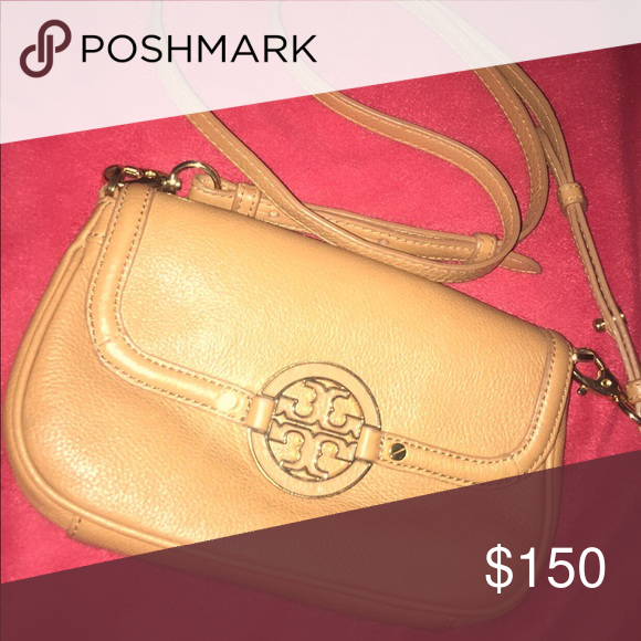 9e9a0373725 Brown Small Tory Burch Hand Bag   Tory burch bag, Shoulder bags and ...