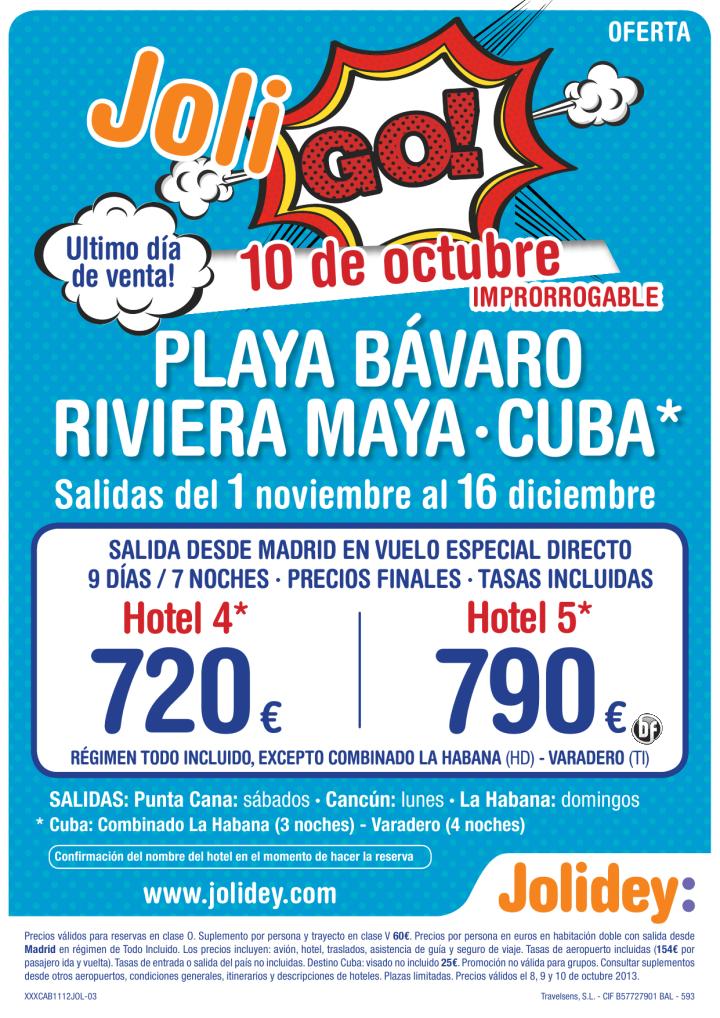 Ultimo día 10 Oct Oferta Playa Bavaro,Riv. Maya,Cuba. Desde 720 Euros del 1 al 16 nov - http://zocotours.com/ultimo-dia-10-oct-oferta-playa-bavaroriv-mayacuba-desde-720-euros-del-1-al-16-nov/