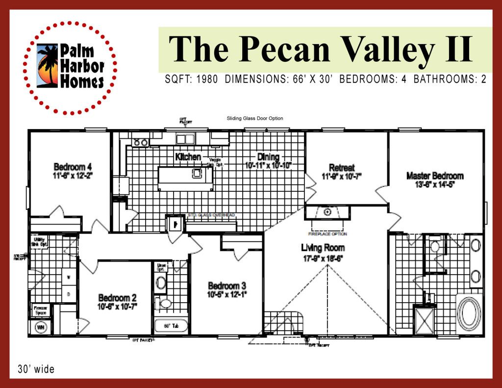 Master bedrooms house floor plans bathrooms pecan valley ii   floorplan triple wide mobile also double rh pinterest