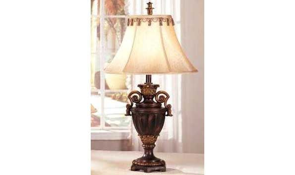 Poundex 2 Pieces Dark Bronze Classic Table Lamps Bronze Table Lamp Traditional Table Lamps Table Lamp