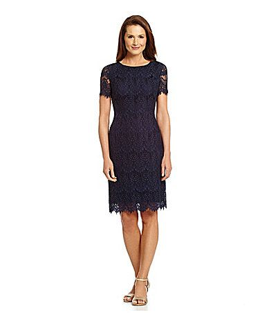 Preston \u0026 York Felicia Short Sleeve Lace Sheath Dress