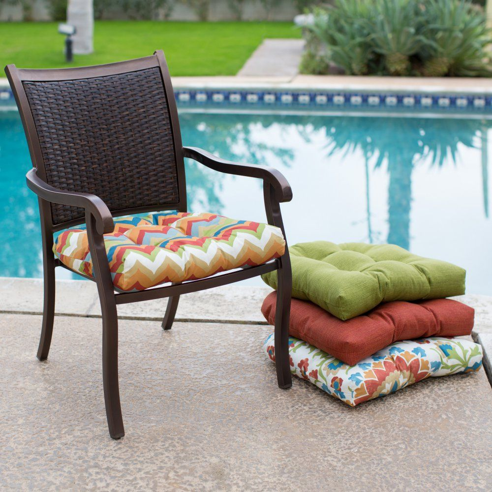coral coast cantara wicker chair cushion - 19 x 19 in. - with its