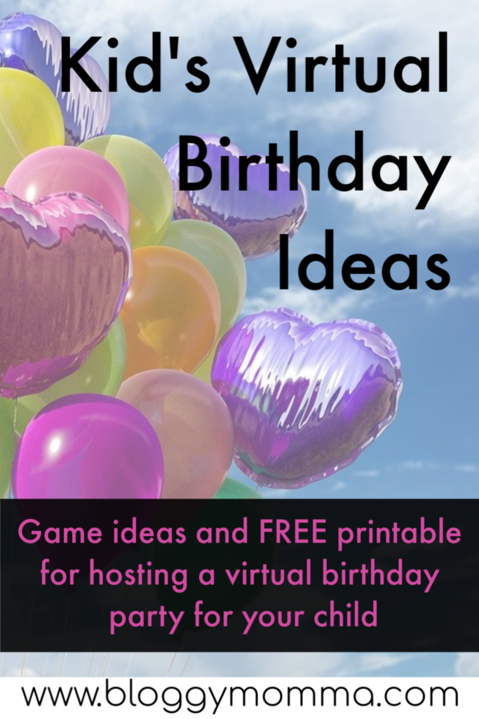 Kid's Virtual Birthday Ideas Birthday games for kids