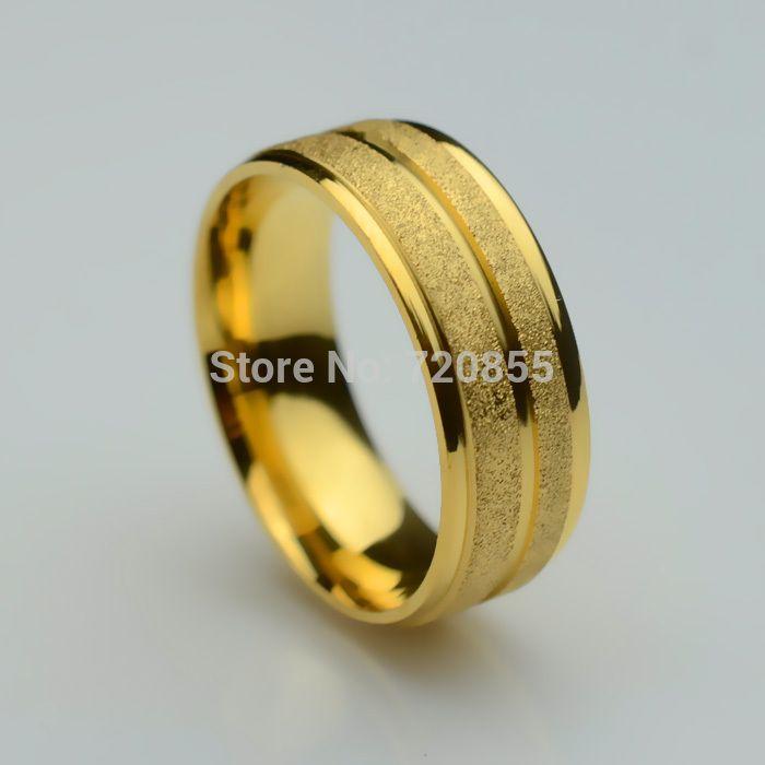 Aliexpress.com: Comprar Acero inoxidable + chapado en oro 18 k moda de alta calidad de los anillos, ee.uu. tamaño : 7 ~ 11, nuevo diseño de la llegada, la boda del partido regalo de cumpleaños de puerta de acero marco de la maquinaria fiable proveedores en Golden Mark Jewelry Factory