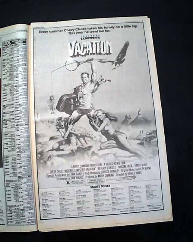 Best NATIONAL LAMPOON'S VACATION Film Movie Opening Day AD
