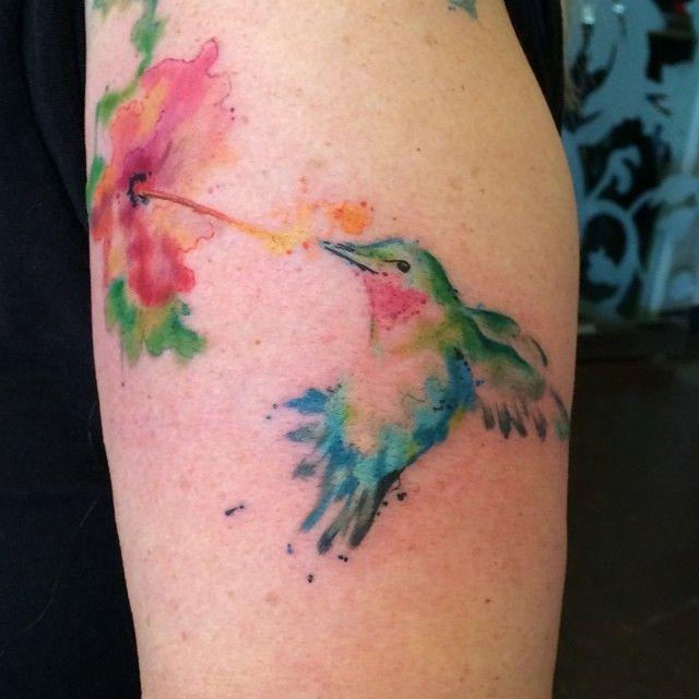 Hummingbird Watercolor Tattoo Livingartgallery Tattoos