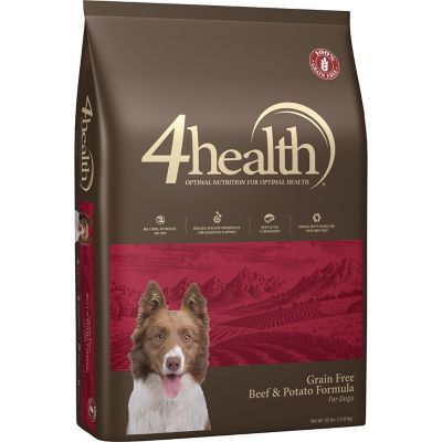 4health Grain Free Beef Amp Potato Dog Food 30 Lb Potato Dog Dog Food Recipes Grain Free