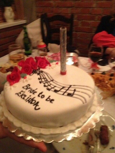 Musician bride to be cake