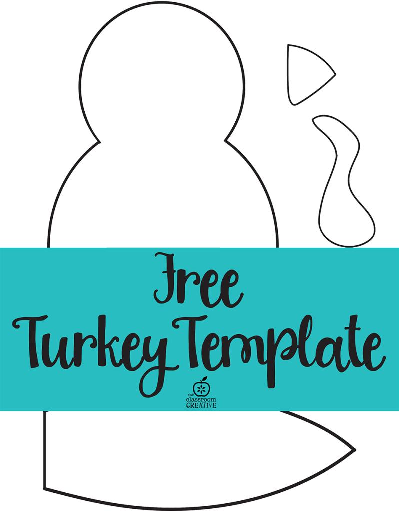 Free printable turkey template. Easy peasy | Kids thanksgiving ...
