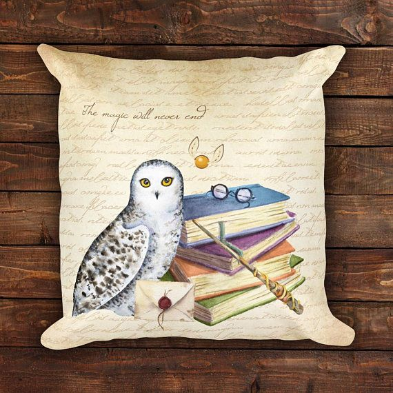The Magic Will Never End Pillow  Harry Potter Pillow  Harry Potter     The Magic Will Never End Pillow  Harry Potter Pillow  Harry Potter Home  Decor