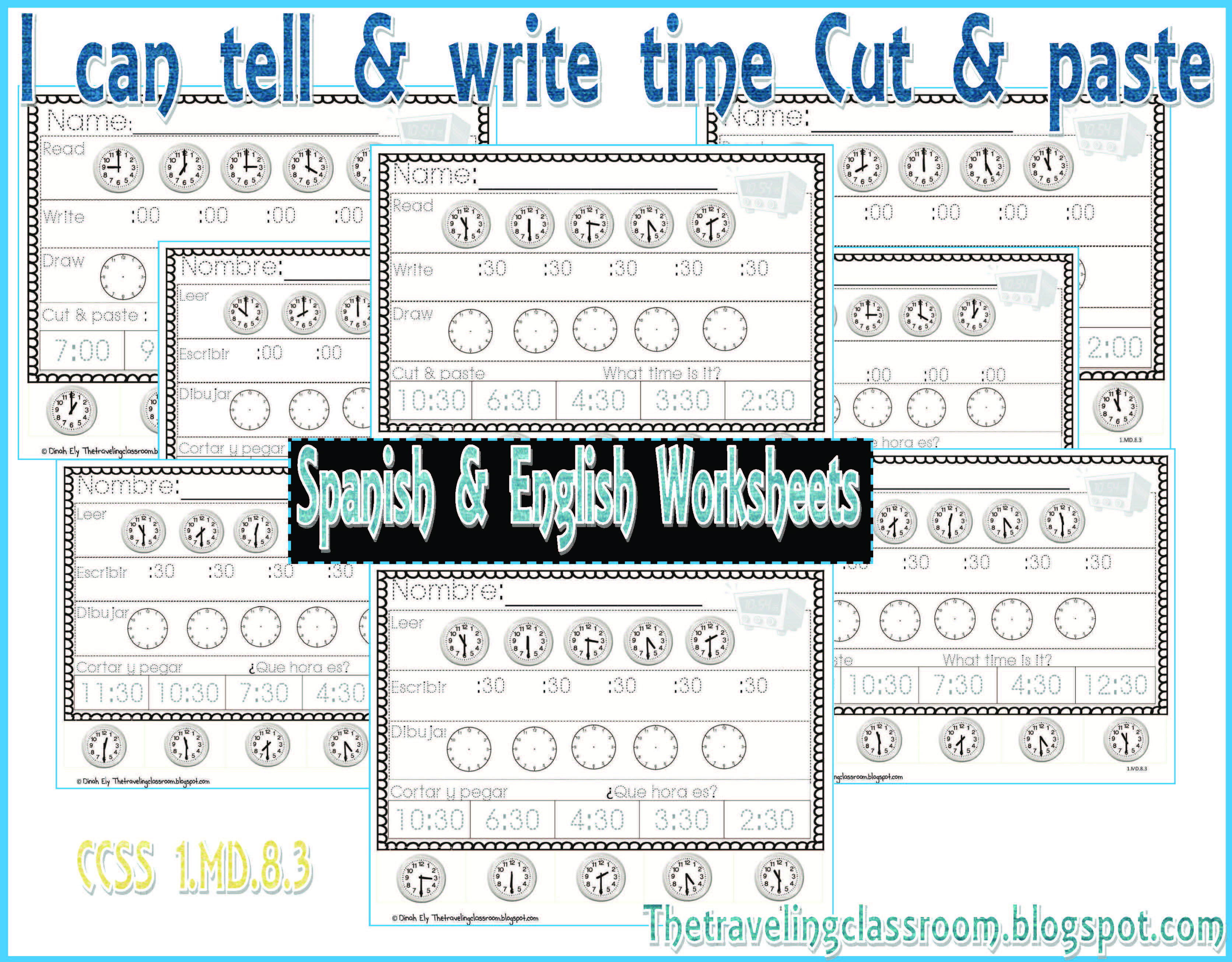 Telling Time Worksheets Amp Posters With Images