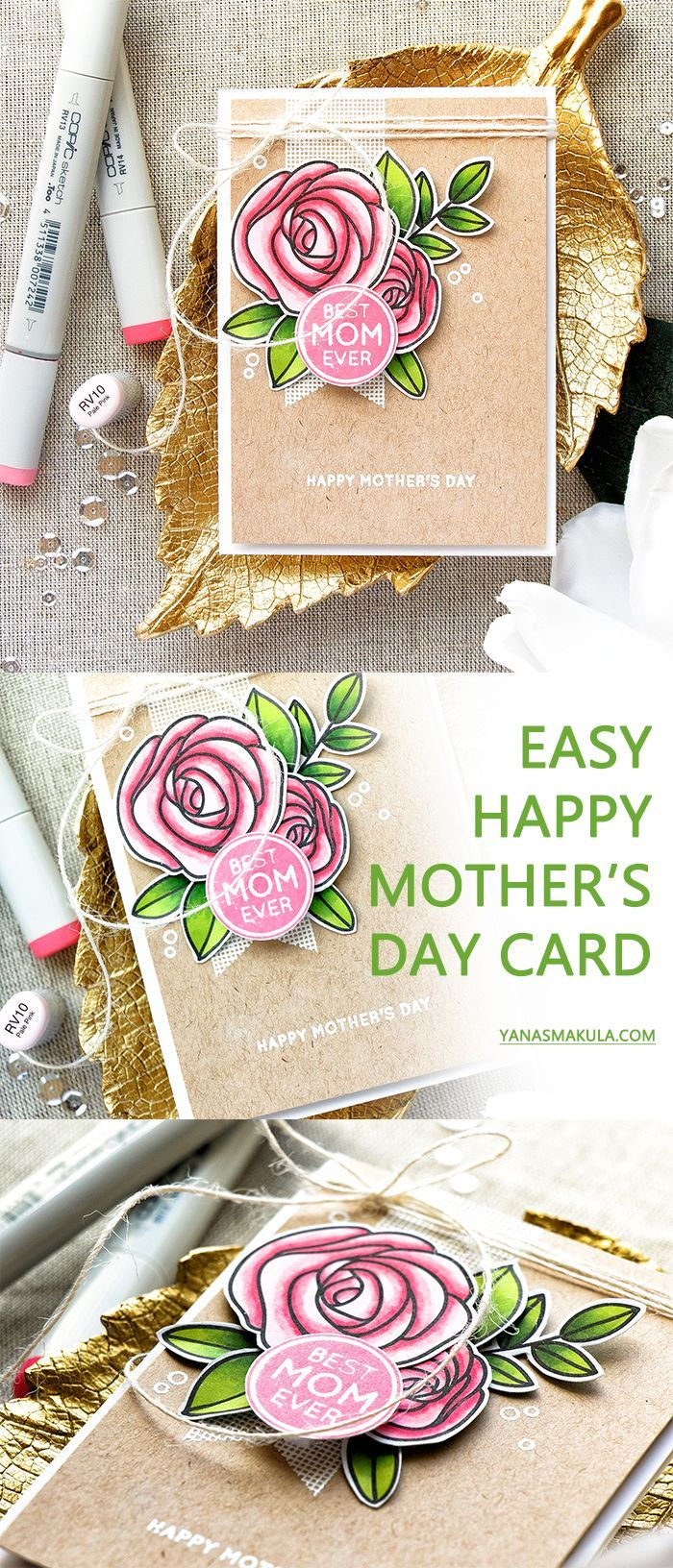 simon says stamp  elegant happy mother's day card with
