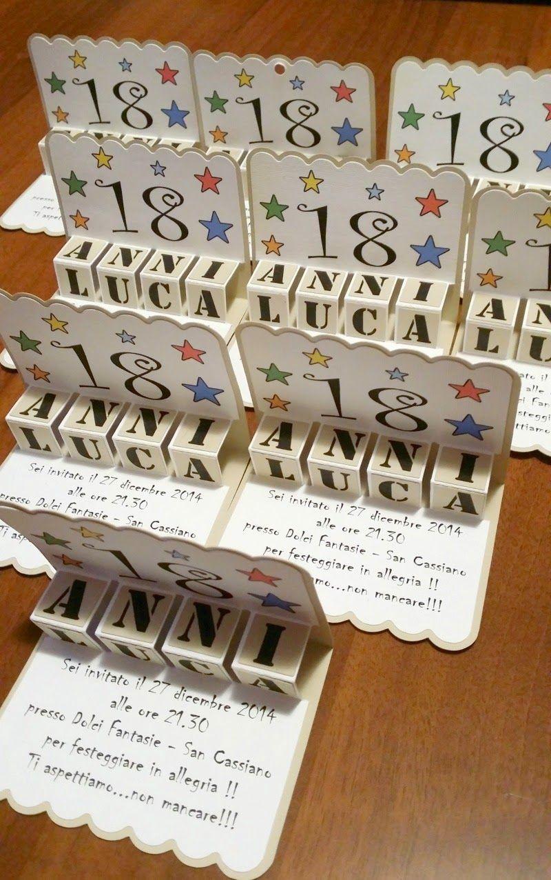 Biglietti D Invito Per Festa 18 Anni Pop Up Pinterest