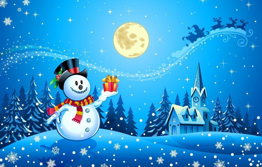 Fondos De Pantalla Navideños Animados Gratis Muñeco De Nieve Frases De Feliz Navidad Deseos De Navidad Imágenes De Navidad