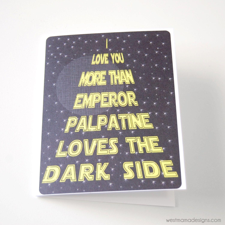 Funny Birthday Day Card Emperor Palpatine Dark Side Science – Valentine Cards for Dad