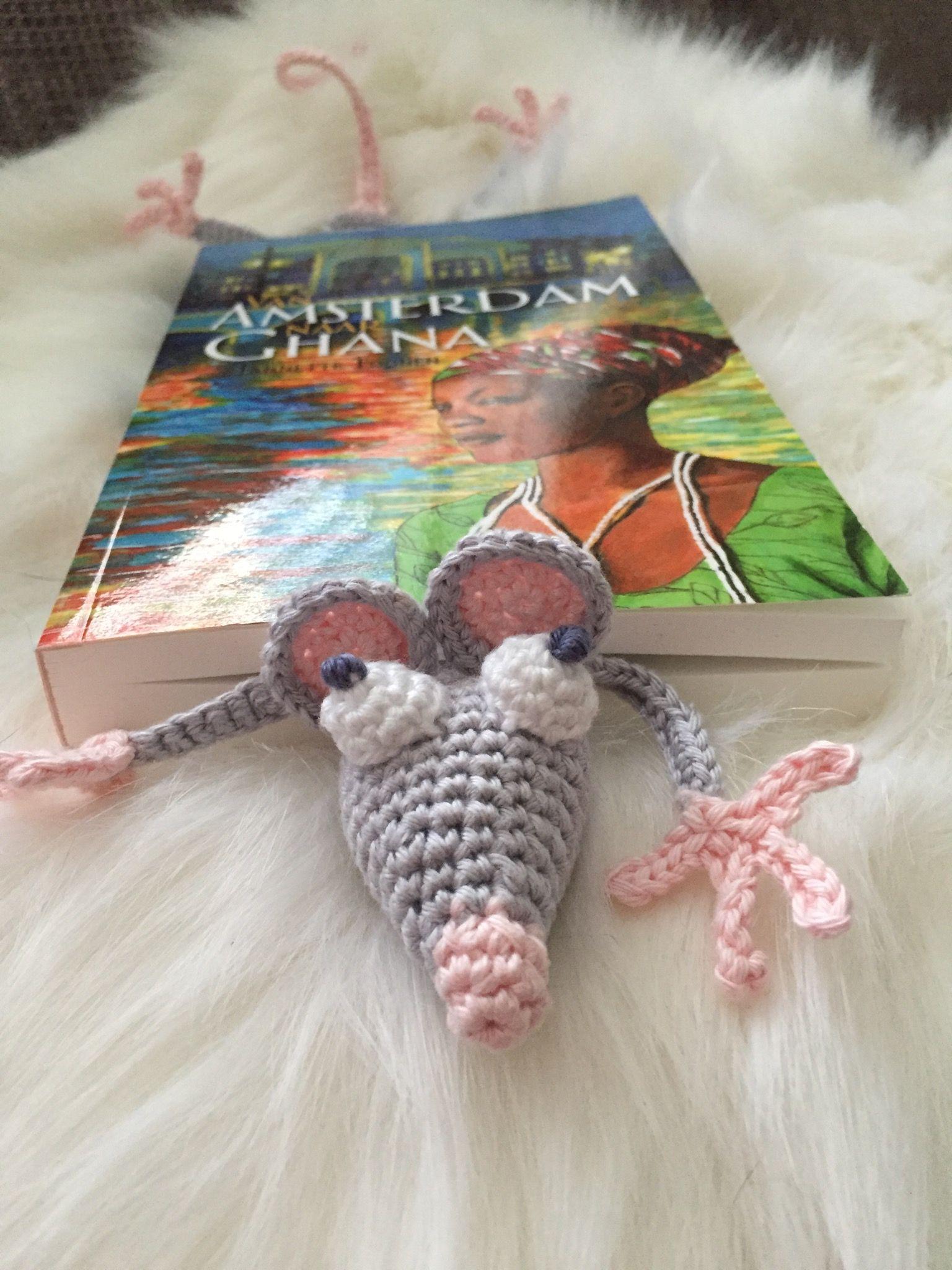 Crochet Haken Amigurumi Boekenlegger Muis Haken
