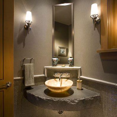Narrow Floating Bathroom Sink