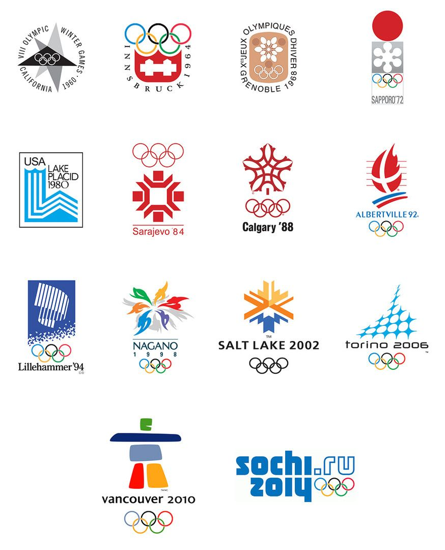 Winter olympic sports logos
