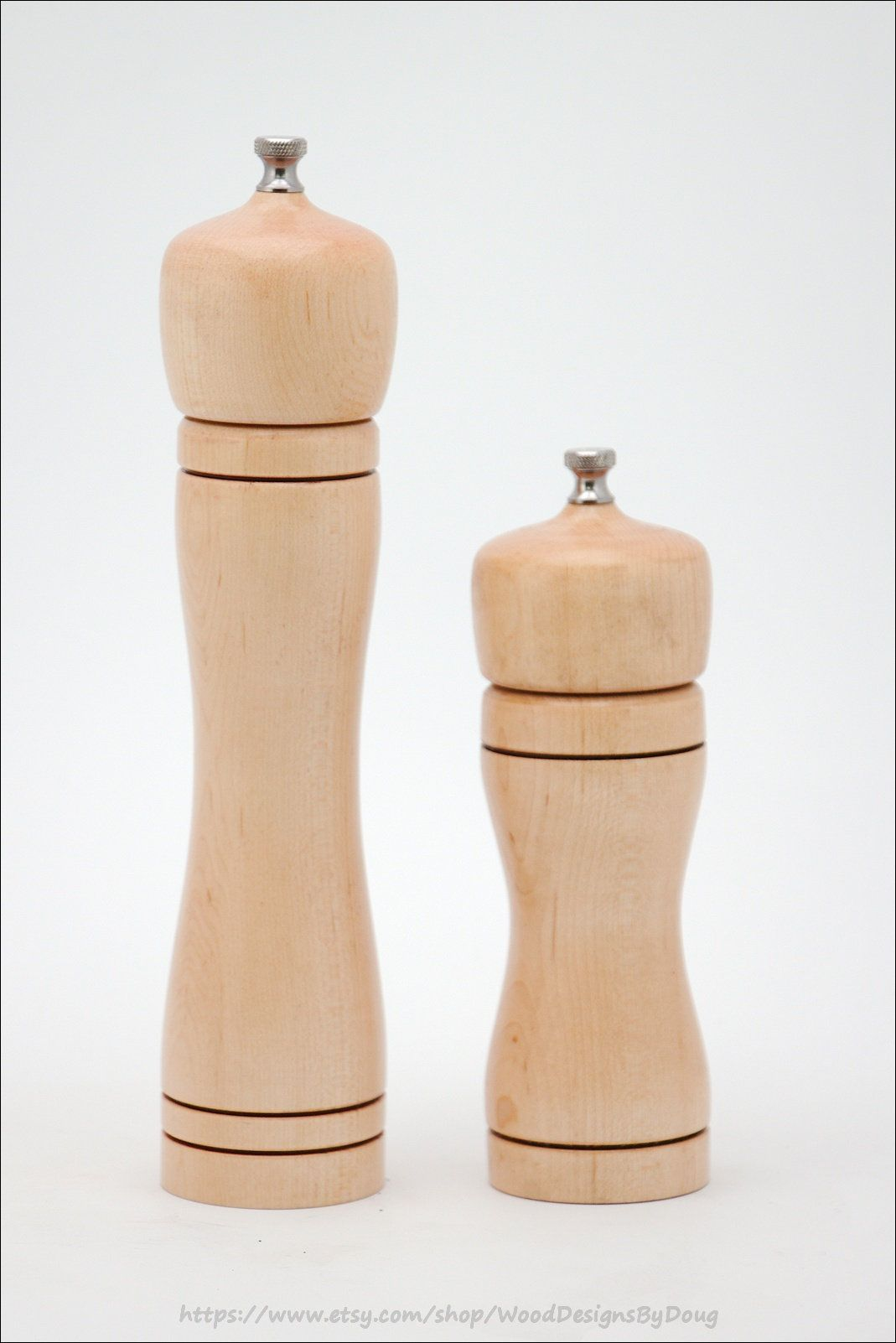 Salt and Pepper Mill Set Maple