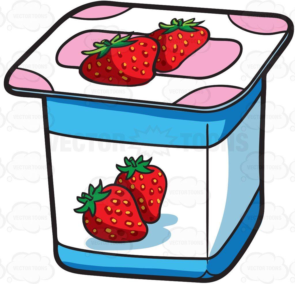 A One Serving Strawberry Yogurt Com Imagens Arte E Decoracao