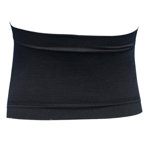 Black Cotton Seamless Maternity Pregnancy Belly Belt Waist Band Back Support