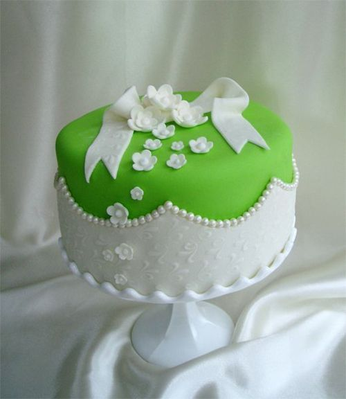 pretty  lime and white.