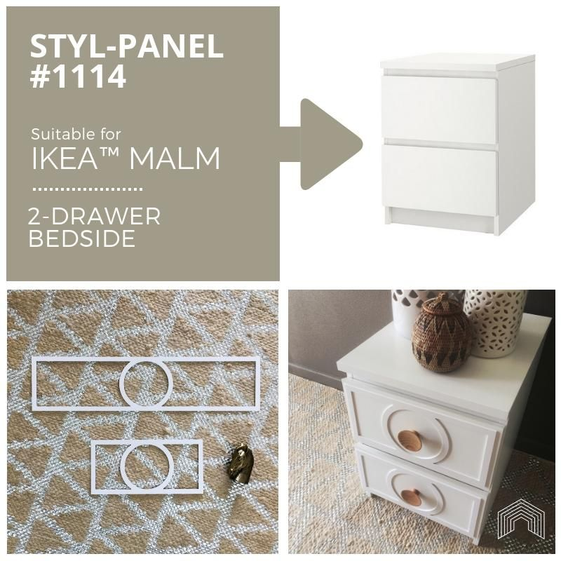 Styl-Panel Kit: #1114 to suit IKEA Malm 2-drawer b