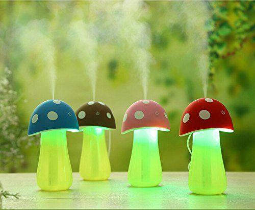 USB LED Humidifier Purifier Air Diffuser Cute Mushroom Shape Mist Maker Atomizer