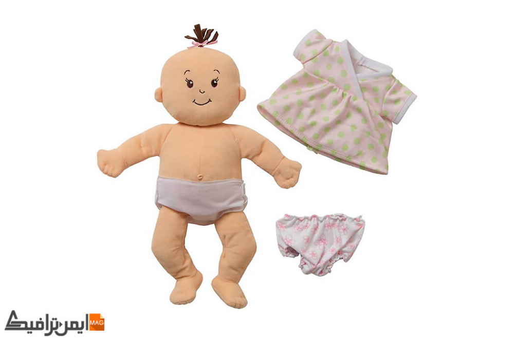 "Manhattan Toy Baby Stella Yoga Baby Doll Clothes and Mat for 15/"" Dolls"