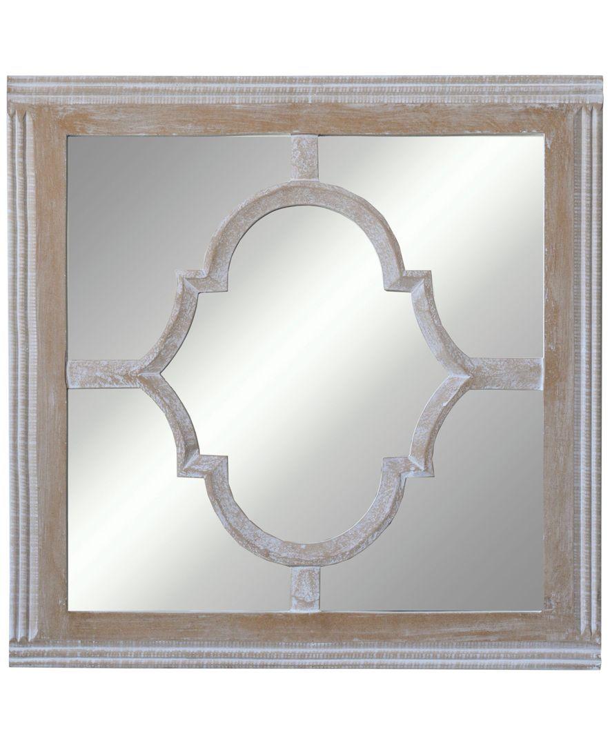 3r Studio Square Wood Glass Wall Mirror Reviews All Mirrors