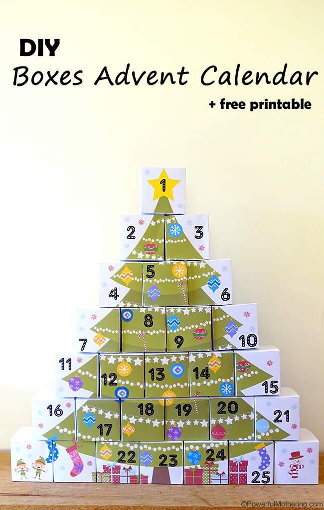 Original calendario de adviento para imprimir gratis Navidad