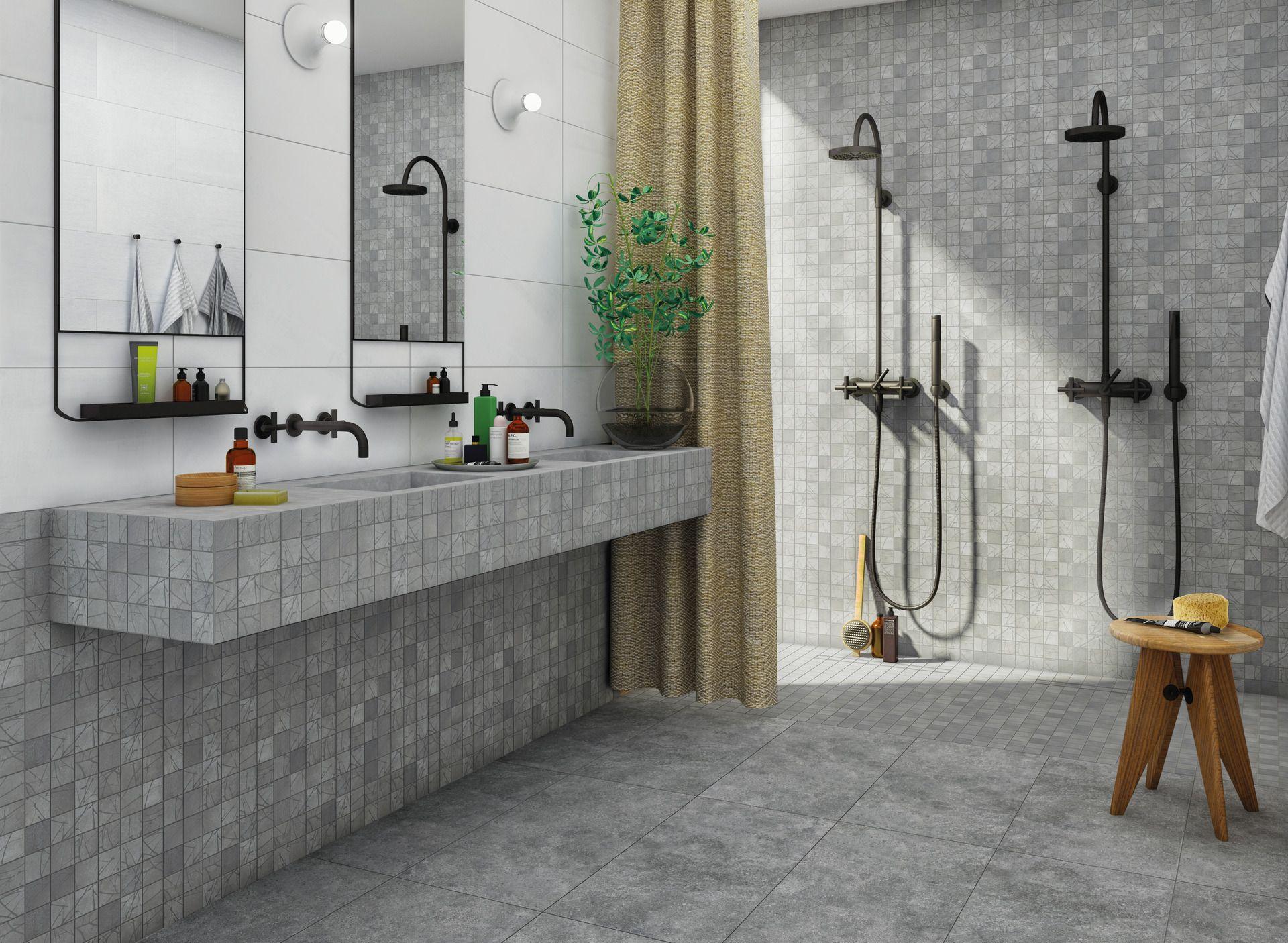 Coole Idee Doppeldusche Dusche Badezimmer Gestalten Badezimmer Fliesen