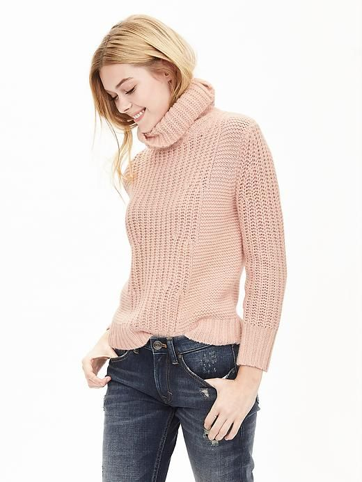 Mixed-Stitch Turtleneck Sweater Pullover | Banana Republic | get ...