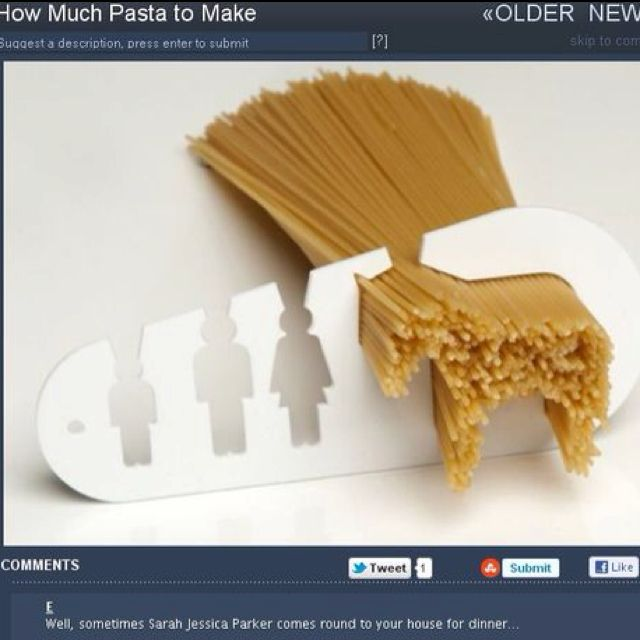How much pasta to make per person......or enough to feed a horse.